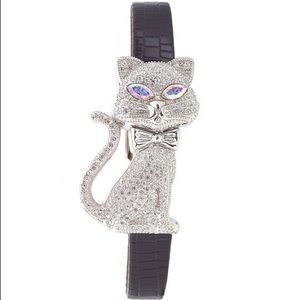 Accessories - Pavé crystal cat watch